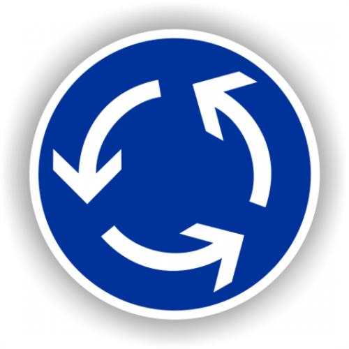 Sensul giratoriu și semnalizarea