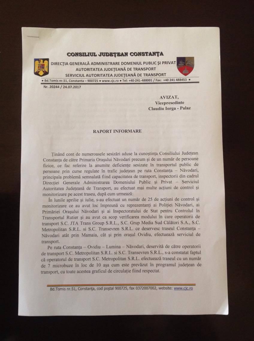 Raport informare CJC