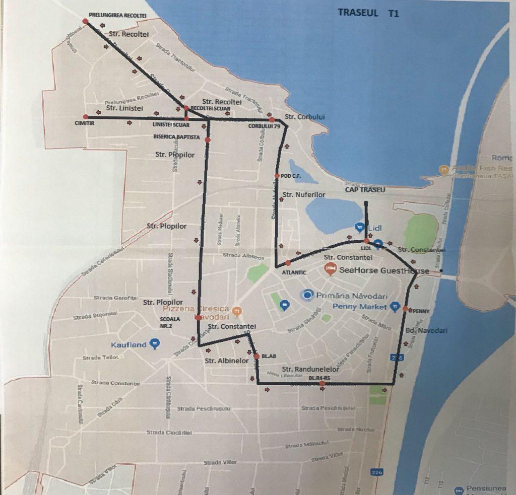 transport public navodari traseu 1
