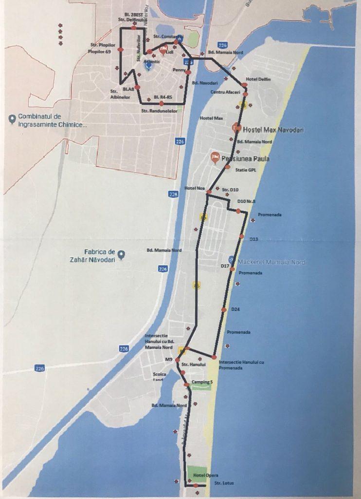 transport public navodari traseu 3